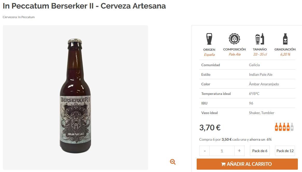 Comprar cerveza artesana gallega In Peccatum