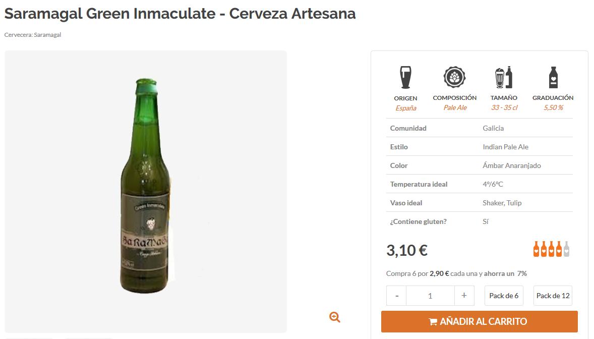 comprar cerveza artesana gallega saramagal online